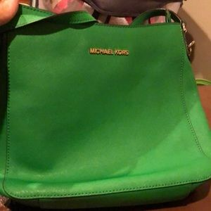 Kelly green Michael Kors bag